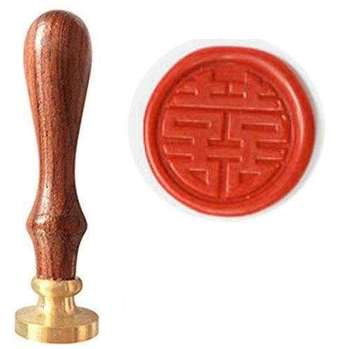 - MNYR Vintage Chinese Character Double Happiness Decorative Wax Seal Stamp Wedding Invitation Wine Package Christmas Gift Sealing Wax Seal Stamp Set