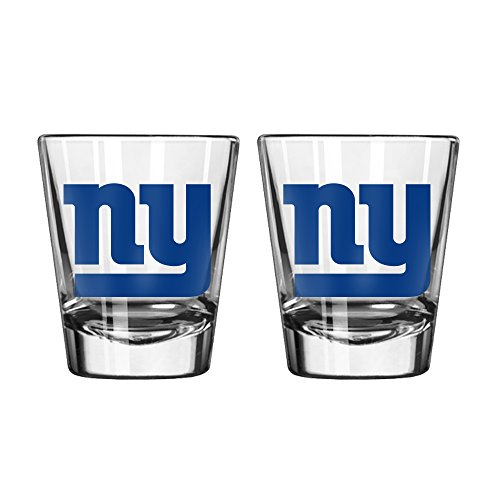New York Giants Shot Glass (NFL New York Giants Game Day Shot Glass, 2-ounce, 2-Pack)