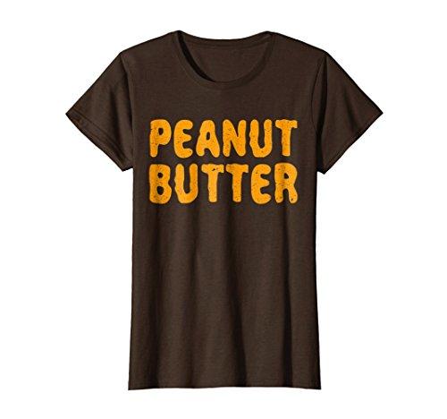 Womens Peanut Butter T-Shirt Matching Halloween Costume Small