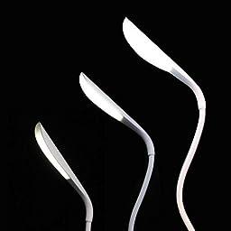 EconoLed Flexible USB Rechargeable, 3 Mode Touch Modern LED Desk Lamp, Reading Lamp, Book Light, Task Light, Pure White