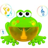 PBOX Frog Baby Bath Toy,Bubble Toy Musical Toy Bubble Maker with Nursery Rhyme Bathtub Bubble Toys for Infant Baby Children Kids Happy Tub Time,Bubble Machine for Boys and Girls Aged 1 2 3 4 (A)