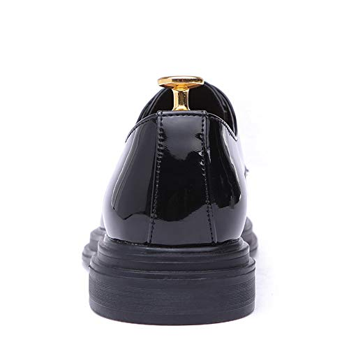 Light e casual leggera Scarpe con nuove EU in Color pelle da Business Oxford 42 uomo da Uomo Nero 2018 scarpe Jiuyue suola Nero comoda shoes verniciata Pelle Scarpe cerimonia Dimensione qwn7HU0U