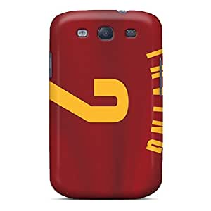 AnnaDubois Samsung Galaxy S3 Bumper Cell-phone Hard Covers Allow Personal Design Beautiful Cleveland Cavaliers Pattern [OVK4413UCgy]