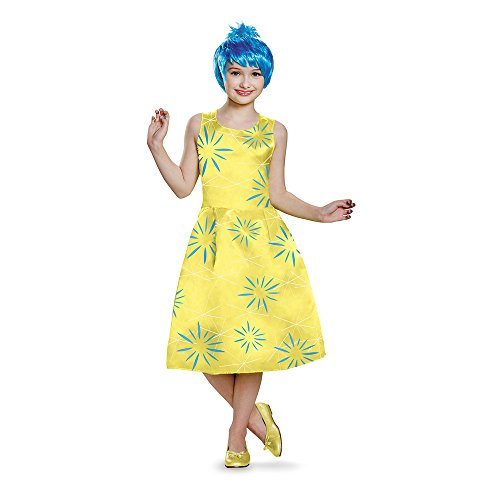 Disguise Joy Deluxe Child Costume, Large (Inside Out Joy Costume)