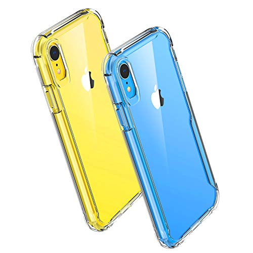 Noii Clear case for iPhone XR case,[Big Air Cushion Series] Crystal Clear Shockproof Phone case,Hybrid Hard Back Anti-Scratches Drop Protection Cover for Apple iPhone XR 6.1 inch 2018 - Clear