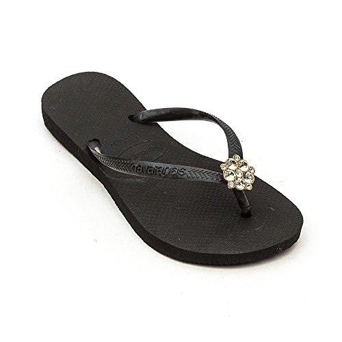 HavaianasSlim Crystal Poem - sandalias mujer Negro con gris