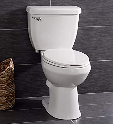 Miseno High Efficiency 1.28 GPF Two-Piece Elongated Chair Height Toilet with Seat and Wax Ring Included
