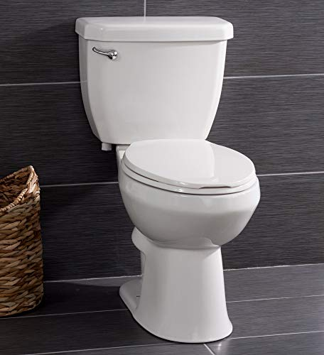 Miseno MNO1503C Two-Piece Toilet with Chair Height Elongated Bowl - Includes Seat and Wax Ring