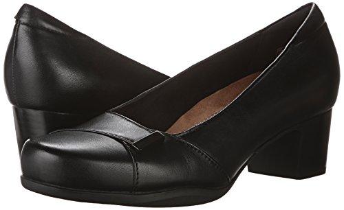 CLARKS Women's Rosalyn Belle Black Leather 9.5 D - Wide by CLARKS (Image #6)