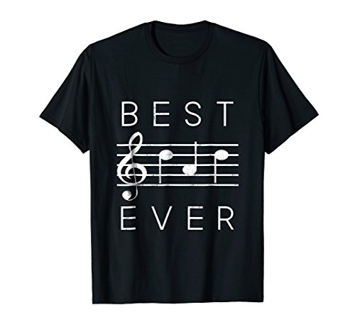 - Best Dad Ever Music TShirt Notes Funny Fathers Day Gift