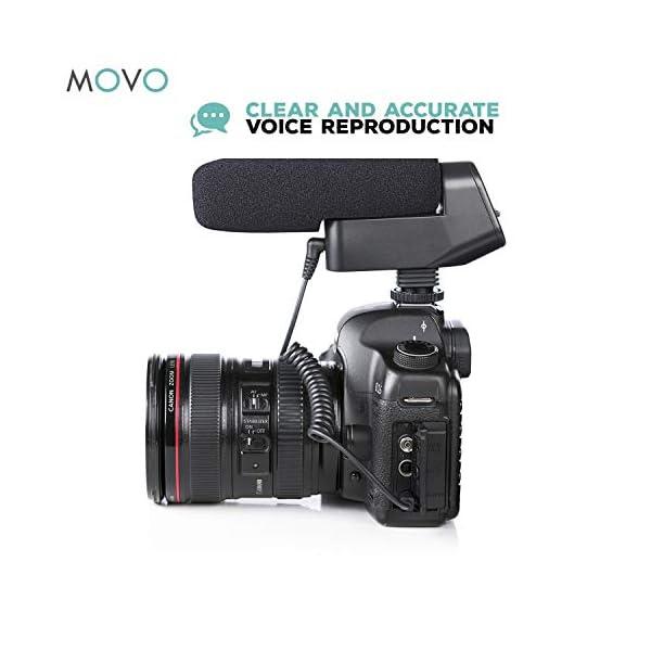 Movo On-Camera Shotgun Video Microphone Compatible with Canon EOS 80D, 77D,  70D, 60D, 7D, 7D Mark II, 6D, 5DS, R, 5D, 5D Mark IV, 1D, Digital Rebel