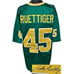 bd9d125d14c Autographed Rudy Ruettiger Jersey - Green TB Custom Stitched College  Football.