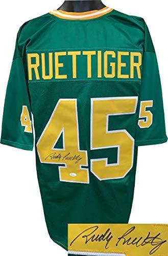 b331bc5ff46 Autographed Rudy Ruettiger Jersey - Green TB Custom Stitched College  Football XL Witnessed Hologram - JSA