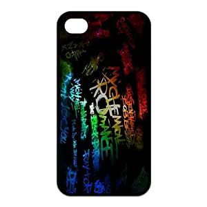 iPhone 4/4S Case, My Chemical Romance Hard TPU Rubber Snap-on Case for iPhone 4 / 4S