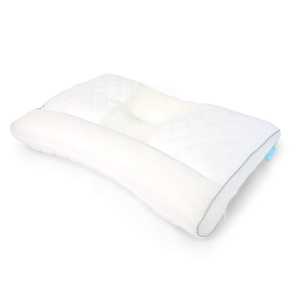 ストレートネック対策機能枕【エンジェルネックピロー/imadeシリーズ】変形した頸椎を正しい形へ 高さ調節 抗菌防臭 パイプ つぶ綿 枕 2Way リバーシブル まくら 丸洗い
