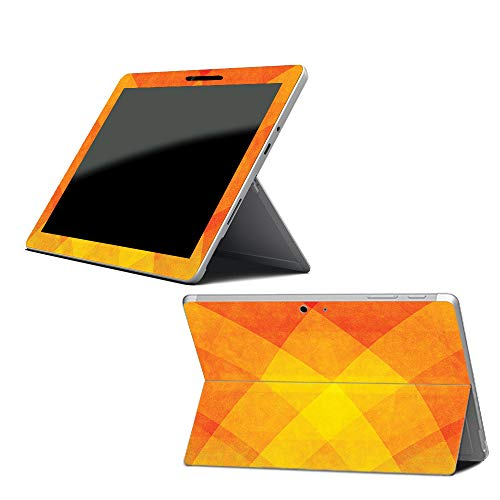 MightySkins Skin for Microsoft Surface Go - Orange Texture   Protective, Durable, and Unique Vinyl Decal wrap Cover   Easy to Apply, Remove, and Change Styles   Made in The USA