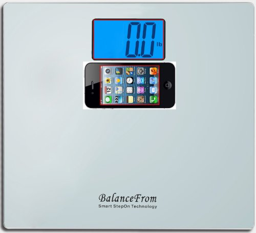 BalanceFrom High Accuracy Digital Bathroom Scale with Large Backlight Display and''Step-On'' Technology [Newest Version] (Silver) by BalanceFrom (Image #1)