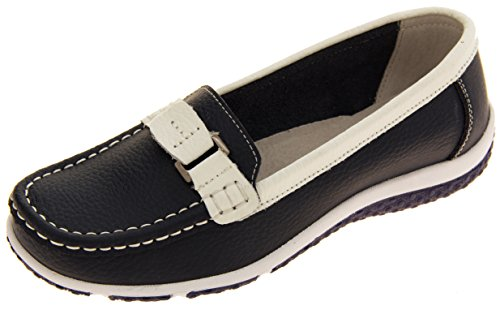 Coolers Pelle Casual Mocassino Donna Mirtillo Scamosciata FPvF8wq