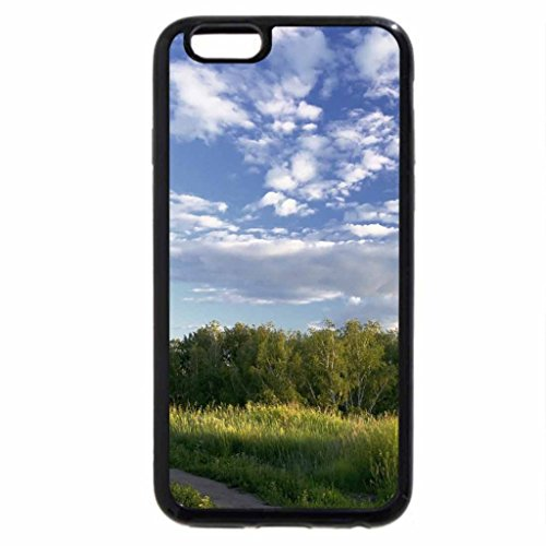 iPhone 6S / iPhone 6 Case (Black) road to a small country church