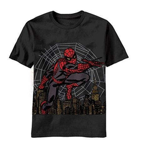 Marvel Little Boys' Metallic Web Juvy, Black, 7
