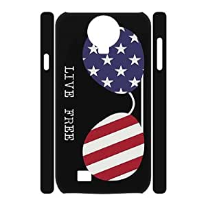 WINDFC American Flag Is It Friday Meowy Christmas Merry & Bright Phone 3D Case For Samsung Galaxy S4 i9500 [Pattern-2]