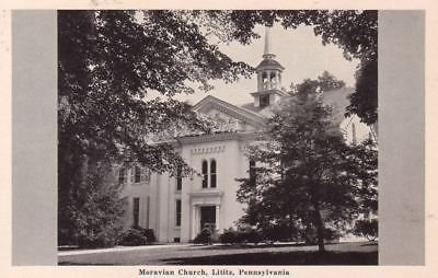 G1462 PA, Lititz Moravian Church Postcard