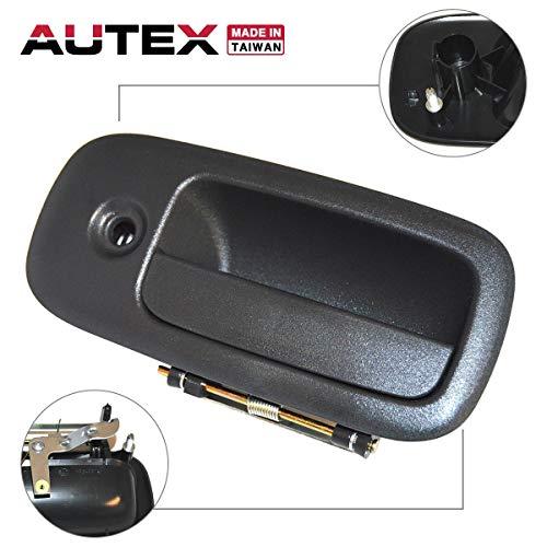 (AUTEX Exterior Outer Front Left Driver Side Door Handle Compatible with 1996 1997 1998 1999 2000 2001 2002 GMC Savana Chevy Express 1500 2500 3500 Door Handle 79304 15167641 25942271)