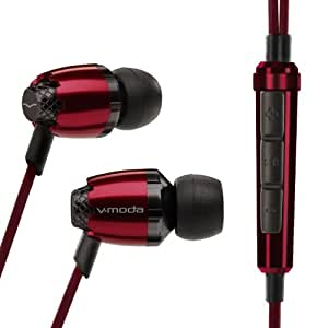 V-MODA Remix Remote In-Ear Noise-Isolating Metal Headphone with 3-Button Apple Control (Rouge)