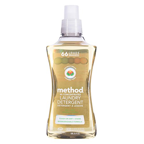 Method 4X Concentrated Laundry Detergent, Free & Clear, 53.5