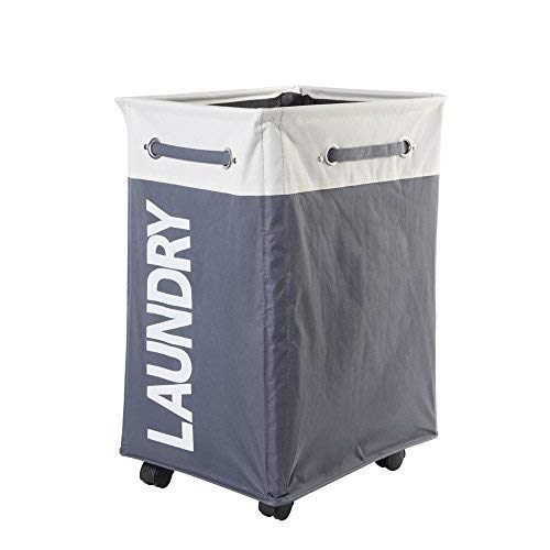 "Comfortez 24"" Pro+ Wheeled Laundry Hamper Light & Dark Gray"