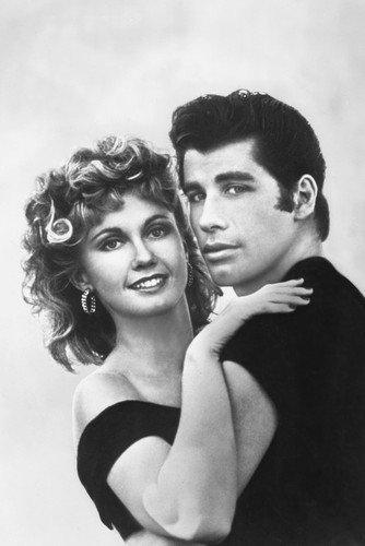 Grease John Travolta Olivia Newton-John dancing together 11x17 Mini Movie Poster