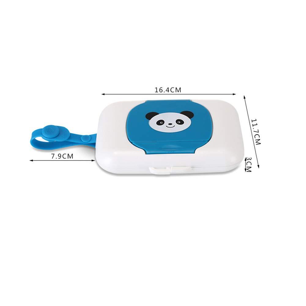 Wet Wipe Box h/ängen Kinderwagen langlebig mit G/ürtel Zubeh/ör wiederverwendbare Panda Print Outdoor Travel praktische tragbare Presse Typ