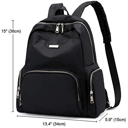 02219d6526b6 Luckysmile Women Girl Casual Nylon Backpack Purse Travel Work College  School Bag