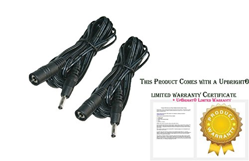 Universal Extension Cable 10FT compatible for indoor IP Camera Foscam FI8918W FI8910W FI8916W Power Ac Adapter 10ft 2-Pack Black