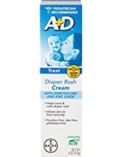 A+D Diaper Rash Cream Zinc Oxide, 4 Ounces (Pack of 2)