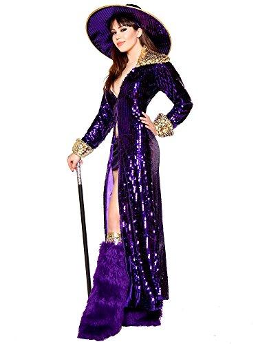 Home / Shop / Halloween Costumes ...  sc 1 st  Funtober & Roma Sexy Womens Purple Pimp Madame Halloween Costume - Funtober