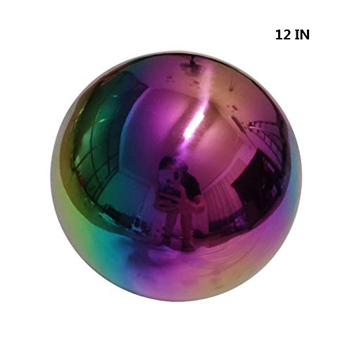 Topaty Multi-Color Gazing Balls Stainless Steel Mirror Decor Balls Colorful Mirror Ball Outdoor Hunting Slings Pinball Shooting Balls Home Garden Office Decorative Balls