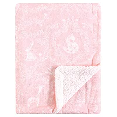 Yoga Sprout Unisex Baby Mink and Sherpa Plush Blanket, Lace Garden, One Size - Soft Mink Blanket with Sherpa Backing Perfectly Measured at 30x40 Inches Super Soft and Warm Fabric - blankets-throws, bedroom-sheets-comforters, bedroom - 41ceACOKYRL. SS400  -