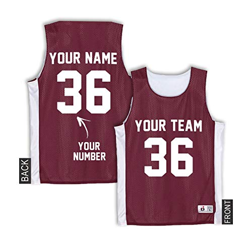 b4452a8a322 Custom Practice Basketball Jersey - Maroon Soccer Pinnies Youth - Hockey  Practice Jerseys