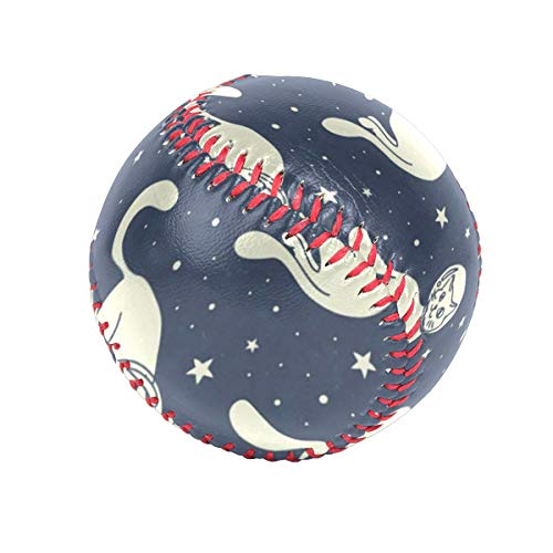 Cat Cosmic Astronauts Personalized Low Impact Safety Tee Balls Indoor Baseball or Outdoor Baseballs for League Play, Practice, Competitions, Gifts, Keepsakes, Arts and Craftsophies, and ()