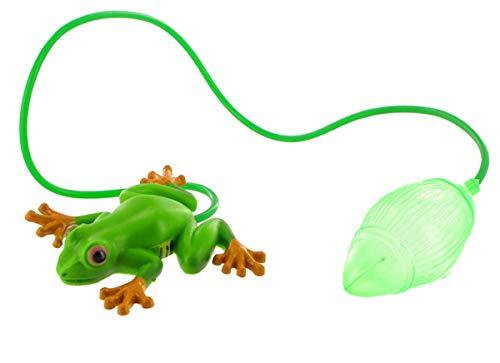Lutèce Créations Jouet Sauteur en Plastique: Grenouille Verte sauteuse avec Poire à air (Réf: 633117)