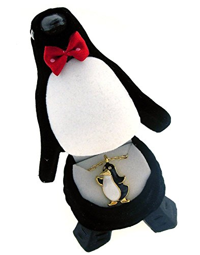 [PENGUIN Crystal Necklace in Penguin Gift Box] (Happy Feet Penguin Costumes)
