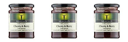 Meridian Cherry - (3 PACK) - Meridian Cherry & Berry Spread - Organic| 284 g |3 PACK - SUPER SAVER - SAVE MONEY
