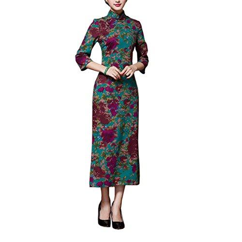 WeinleseElegantes Kleid Cheongsam Langes Qipao ParteiKleider für ...