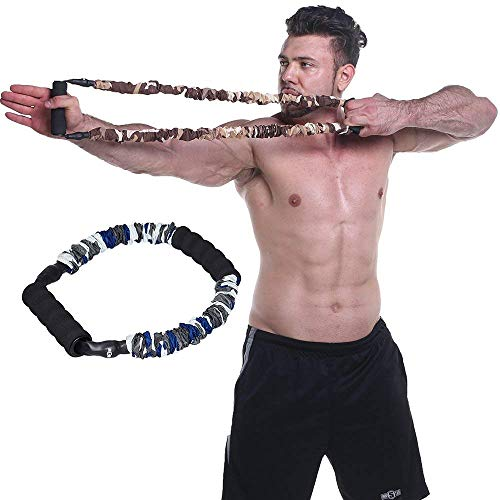 Ranbo Hand Extensor Exerciser,Finger strength Resistance Bands / arm strength training for archery pull bow workout equipment Camouflage Color (35 LB)