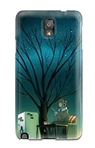 Excellent Design Headphones Trees Night Stars Coffee Radio Scenic Anime Phone Case Galaxy Note 3 Premium Tpu Case