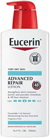 Eucerin Advanced Repair Lotion - Fragrance Free, Full Body Lotion for Very Dry Skin - 16.9 fl. oz. Pump Bottle