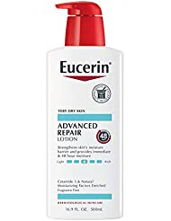 Eucerin Advanced Repair Lotion - Fragrance Free, Full Body Lotion for Very Dry Skin - Use After Washing With Hand Soap - 16.9 fl. oz.