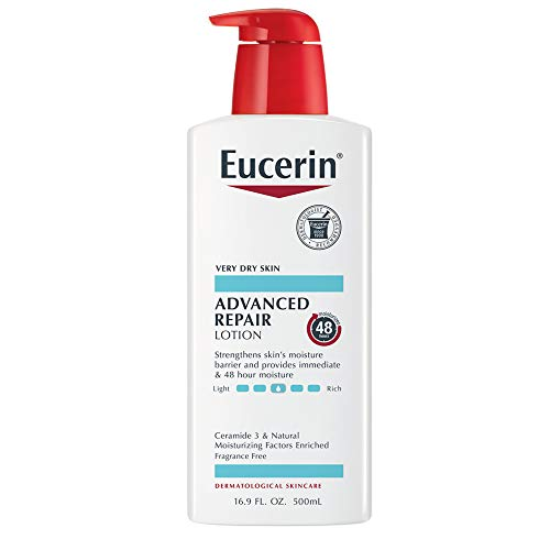 Eucerin Advanced Repair Lotion - Fragrance Free, Full Body Lotion for Very Dry Skin - 16.9 fl. oz. Pump Bottle ()