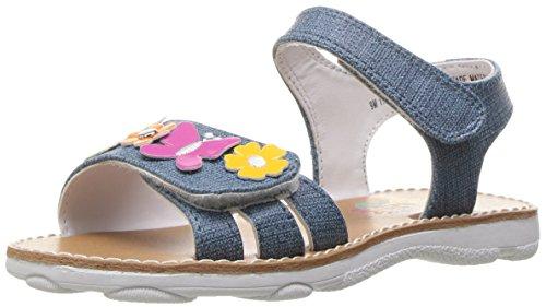 Rachel Shoes Girls' Alyssa Slide, Denim Multi, 7 M US Toddler